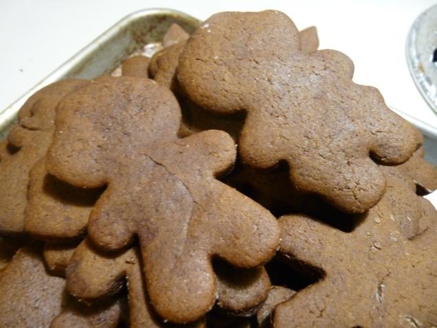 Bitten Gingerbread boy and girl
