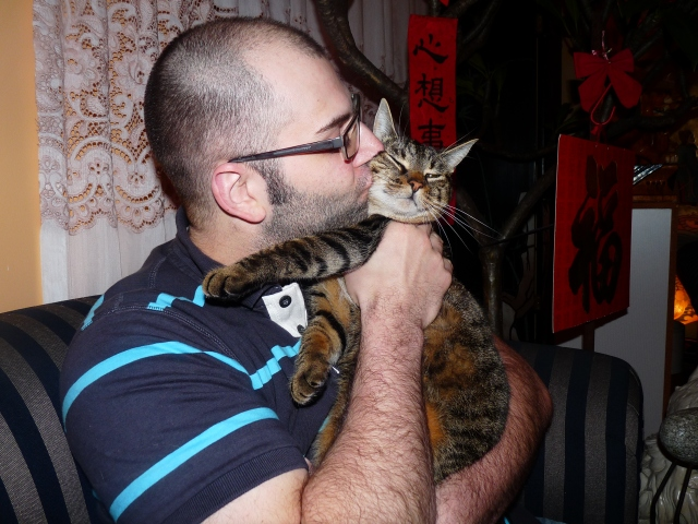 My boyfriend and our cat