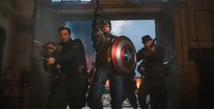 captain america fighting team