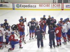 Montreal Canadians/Habs practice at their training center a few years ago..
