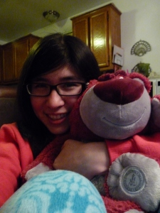 With my new Disney addition, Lotso from Toy Story 3 watching Oscars
