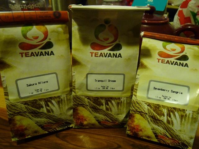 Three teas: Sakura Allure, Tranquil Dream and Sevenberry Sangria!