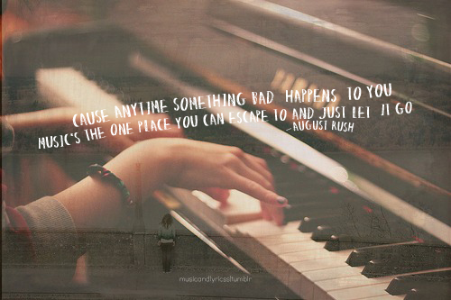 But I believe in music the way that some people believe in fairy tales  Tran...