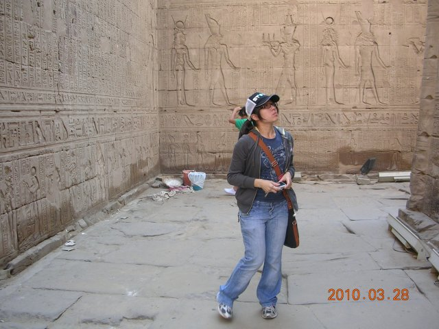 Thats me..at the first temple lost trying to interpret and understand the pictures on the walls...