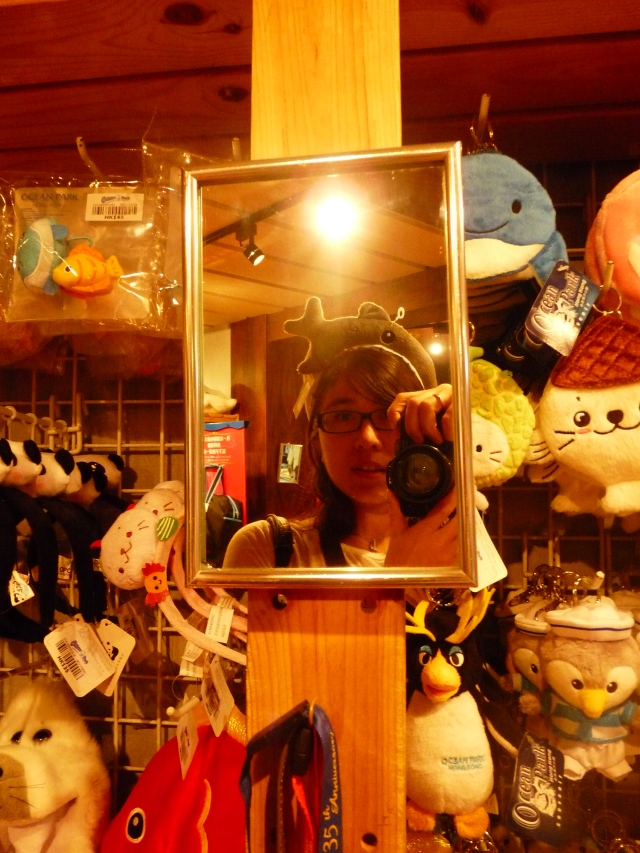 No hats on me but notice the lower left corner :) Those wouldn't have fit my head..so I stuck to a cute headband!