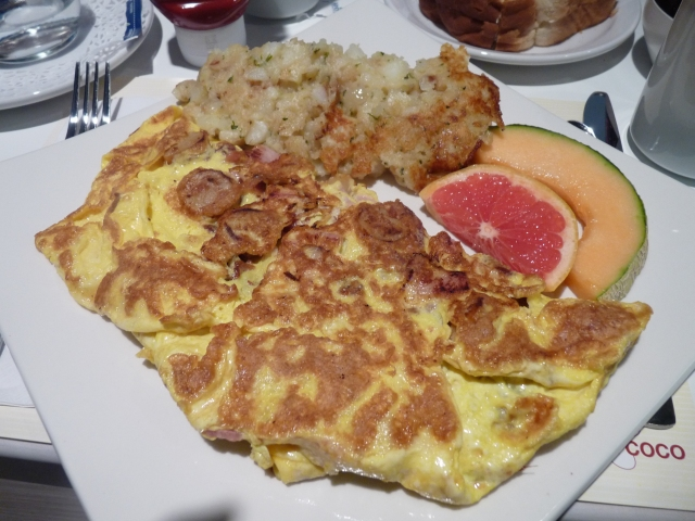 Close up of the loaded omelet :)