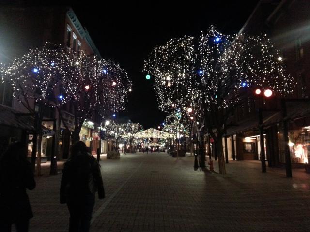 Night in Burlington Downtown