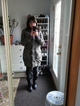 All set for work in my light jacket and spring boots
