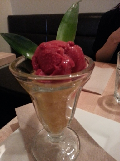 Raspberry and Mango Sorbet