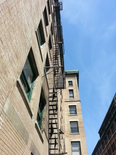 Fire escape on my work building