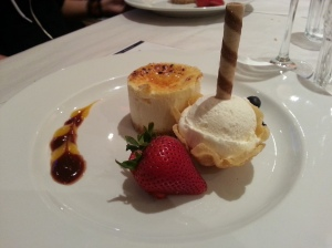 Cheesecake with Ice Cream
