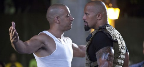 fast five the rock vs vin