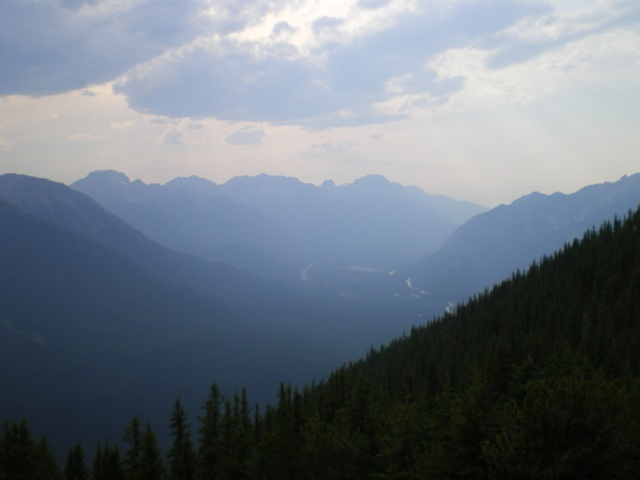 Banff National Park at the plateau of the cable car