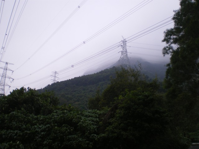 Hong Kong power towers in the mountains