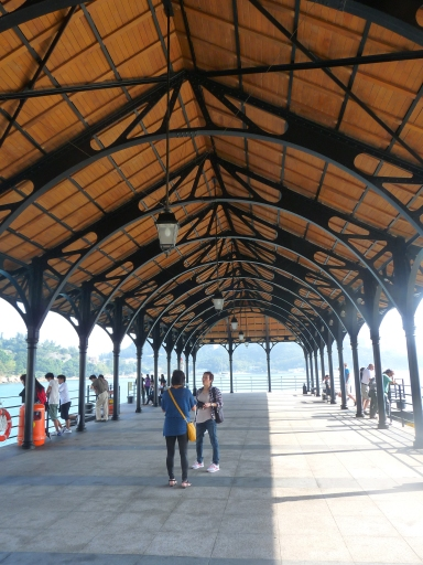 How about the fantastic angles of the metal structure on a pier?