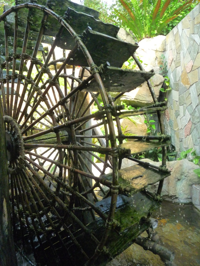 The angles on a small water mill...is that what you call it?