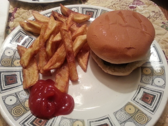 Sunday dinner: Burgers with Homemade fries!