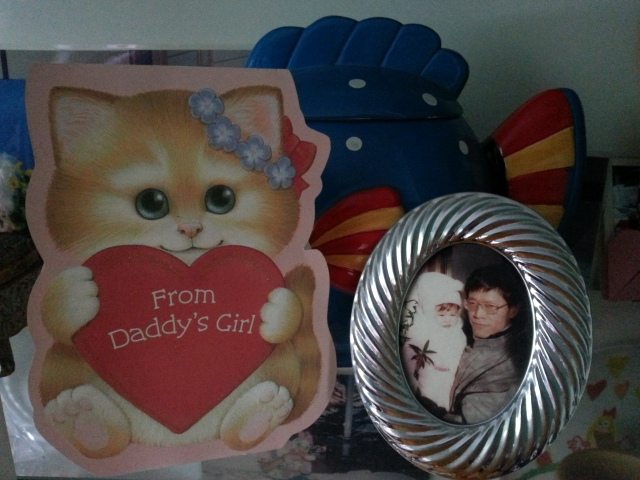 My fave Valentine's card to him and a picture of my dad and baby me :)
