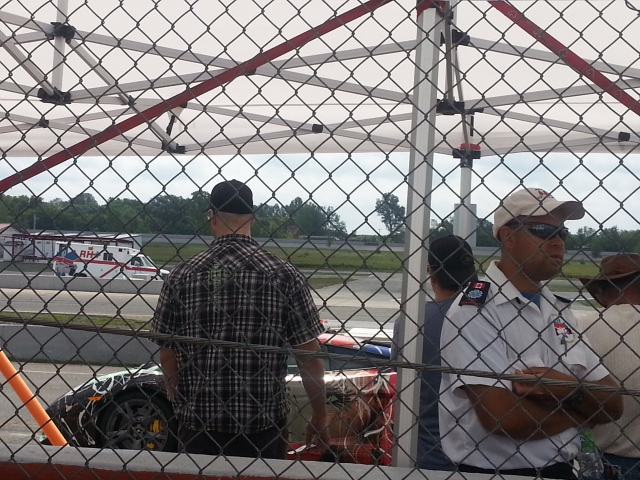 As he waits patiently for his turn to do 8 laps :)