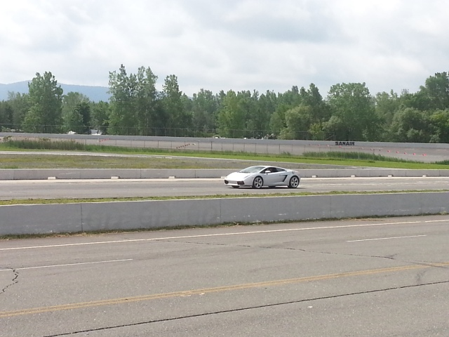 Revving up the car in the stretch!