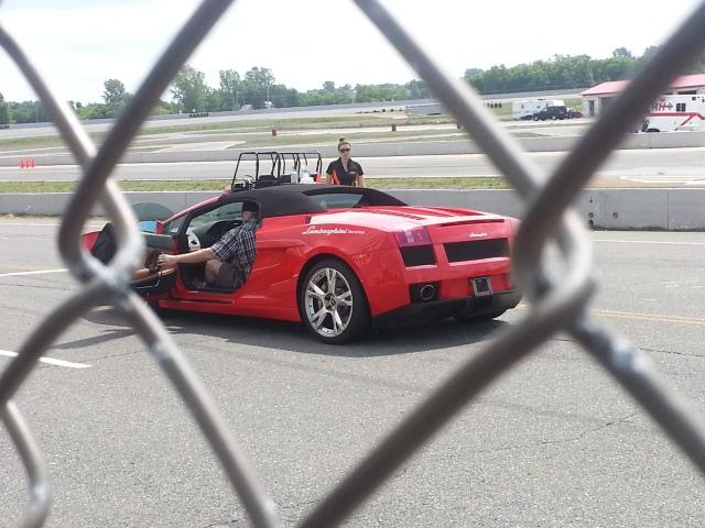 Getting into the second Lamborghini! :)