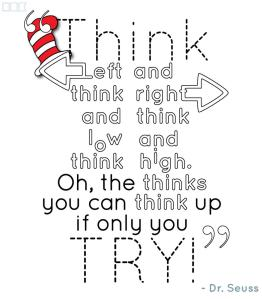 dr. seuss quote think