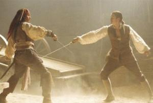 The Curse of the Black Pearl sword fight