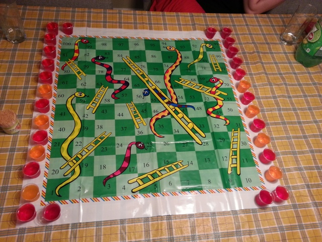 Snakes and Ladders and Jell-O Shots ready!