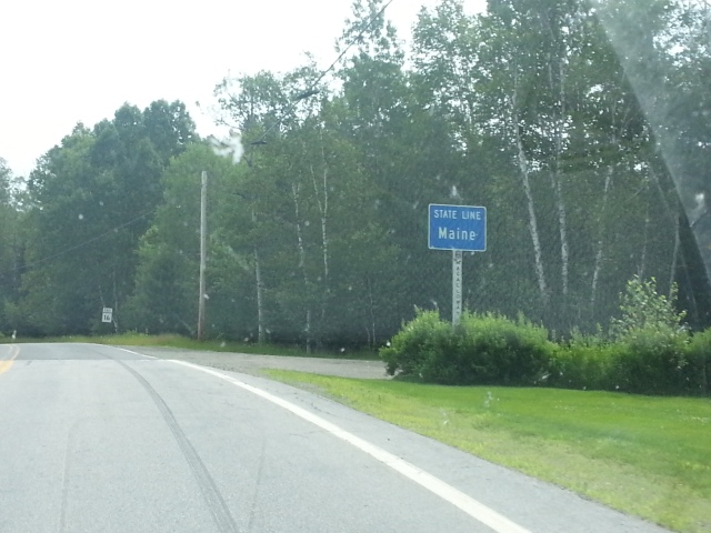 We're in MAINE! After crossing through 2 other states before it ;)