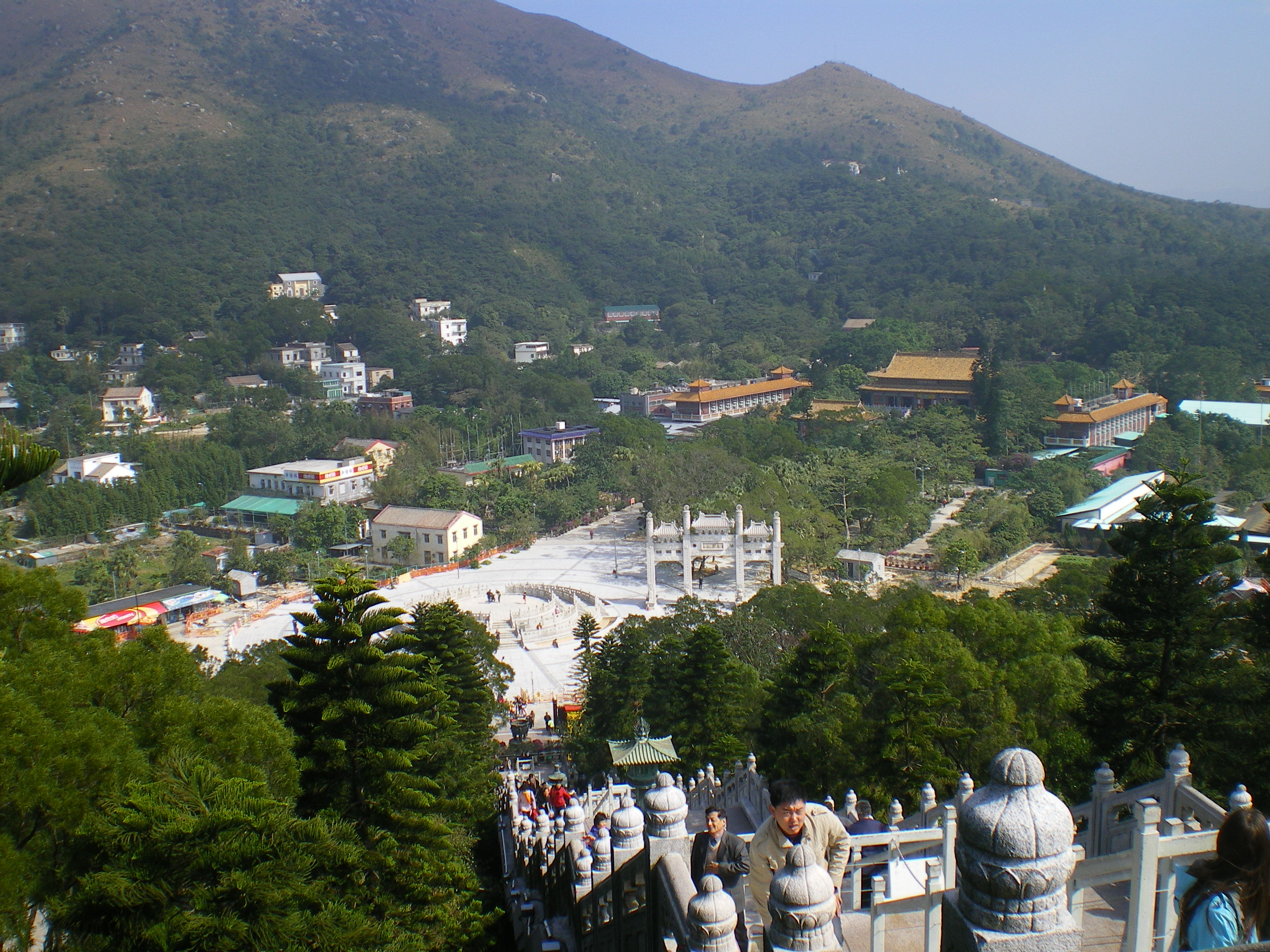 The extended rooftops surrounding the Giant Buddha in Lantau Island