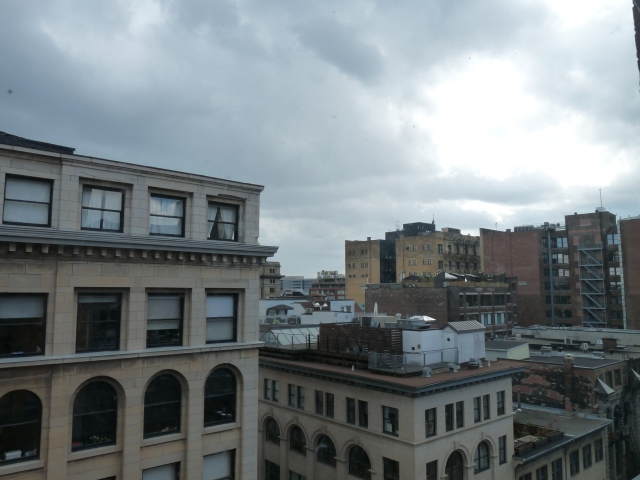 The rooftops around my work! :) Taken earlier this year...
