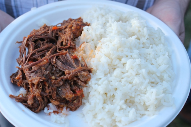 Rice with shredded beef