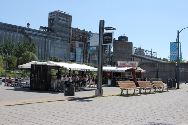 Food stalls in Old Montreal, Porchette and Homards de Iles