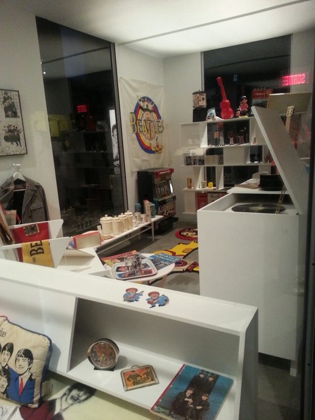 A room of The Beatles merchandise