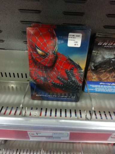 Spiderman 3 Steelcase for $1.97