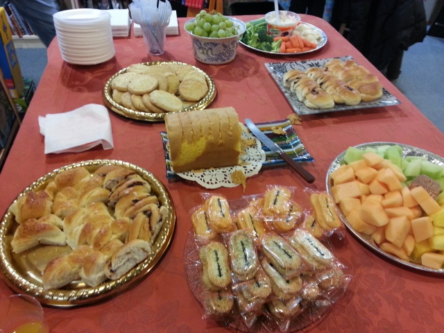 The food table :)