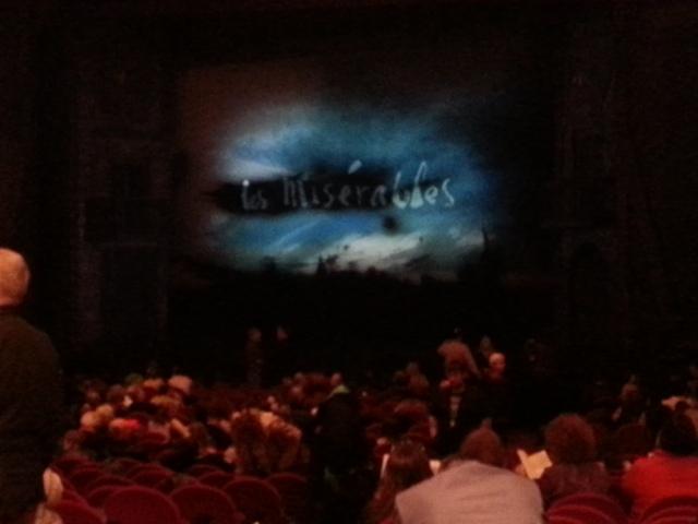 Les Miserables inside at intermission
