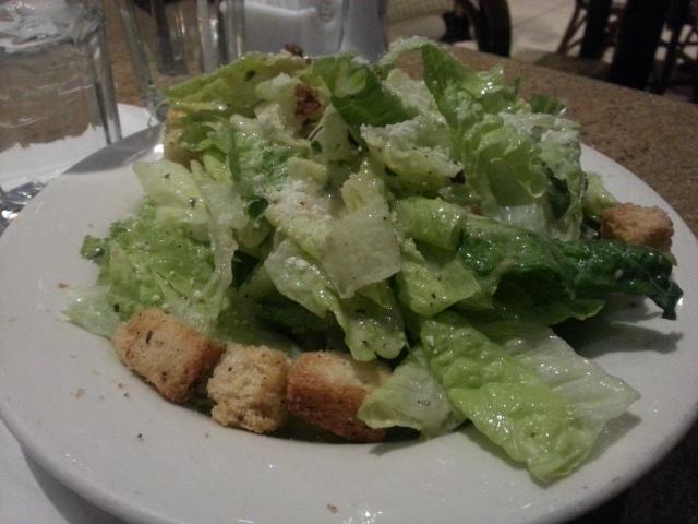 Caesar Salad --> My boyfriend's entree