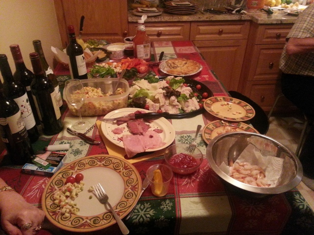 The meal...sorry that its almost finished