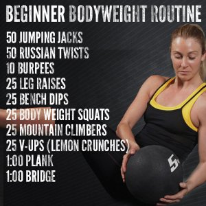 beginner bodyweight routine
