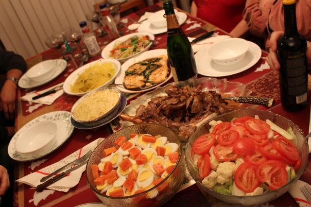 Full of food!