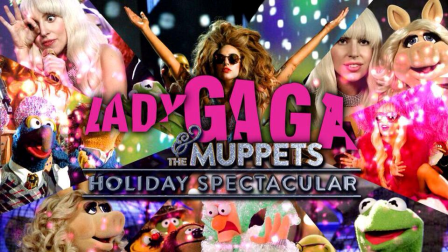 lady gaga and the muppets holiday spectacular poster