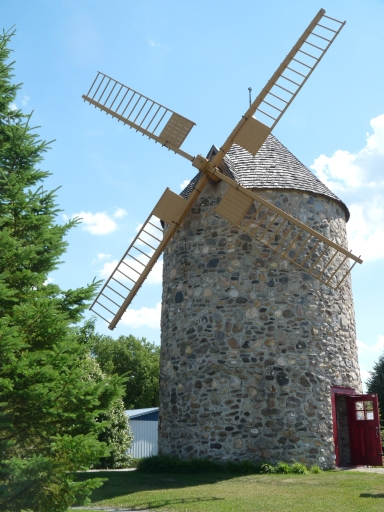 Windmill in the countryside of Quebec, 2012