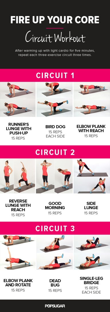 fire up your core workout
