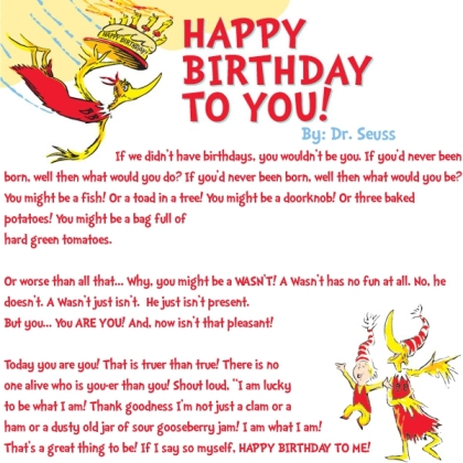 Crafty image pertaining to dr seuss happy birthday to you printable