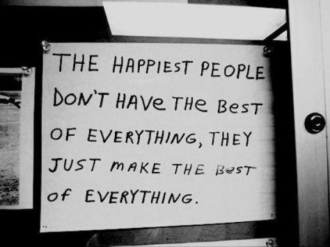 make the best
