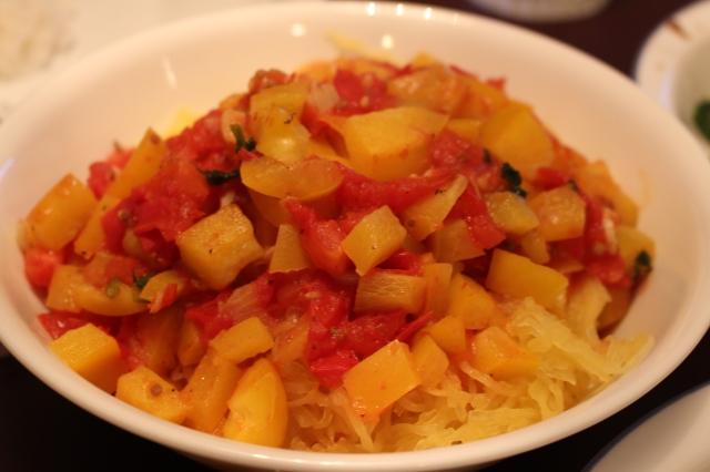 Spaghetti Squash with Sauteed Tomato Sauce