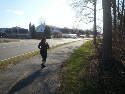 Doing my jog!