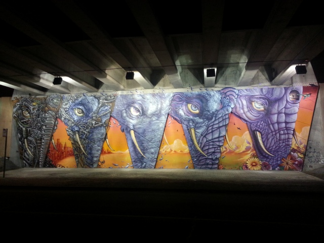 Art under the overpass :)