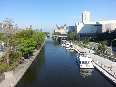 Daytime view of Rideau Canal